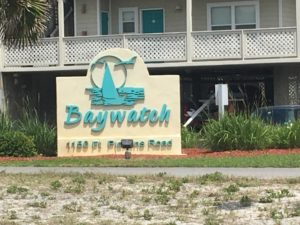 Bay Watch Sign