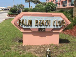 Palm Beach Club Sign